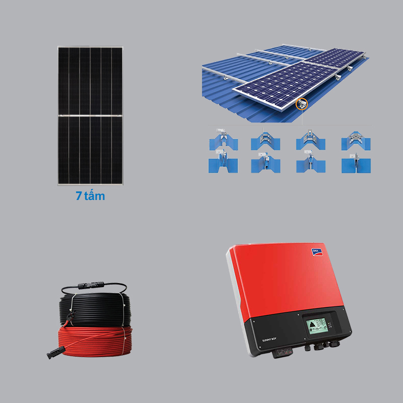 Solar Power System 3.22 kWp 1 Phase
